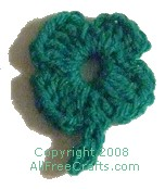 crocheted four leaf clover