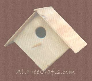 homemade wooden bird house