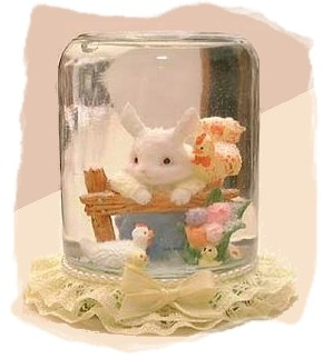 easter bunny water globe