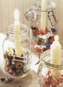 mason jar candy candle holders