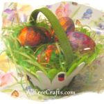 Easter eggs decoupaged with paper napkins.