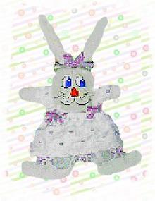 dressed up fabric bunny