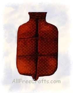 Rice Filled Faux Hot Water Bottle
