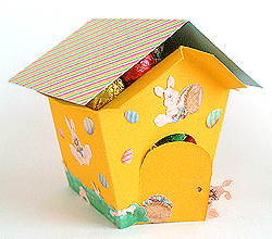 Easter egg house from paper or cardstock