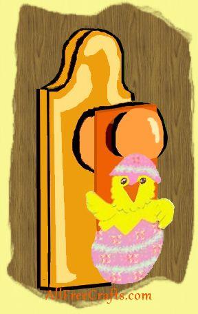 Easter chick door hanger project
