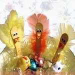 craft stick and feather chicks