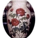 Crackled Rose Vase