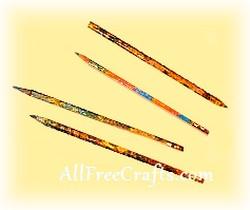 decoupaged pencils