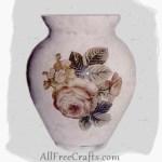 Reverse Decoupage Vase