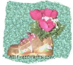 crackle finish baby shoe