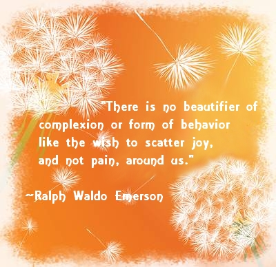 Emerson quote on dandelion background