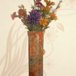 recycled cardboard vase