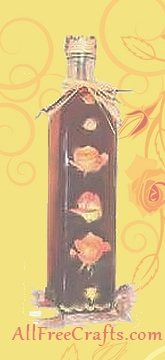 rose decal bottle