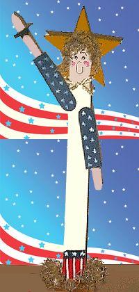 craft stick lady liberty