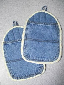 denim pot holders revisited