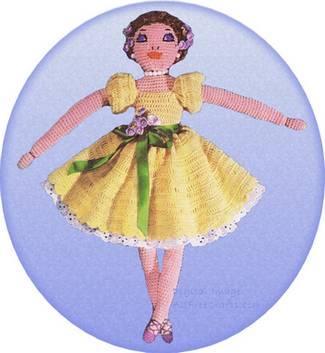crochet ballerina doll