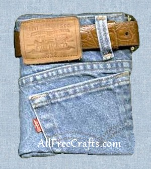 recycled blue jean journal