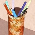 faux leather pencil box