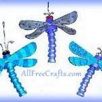 clay pot dragonflies