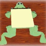 frog theme notepad