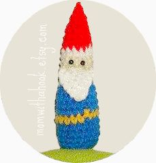 crocheted gnome