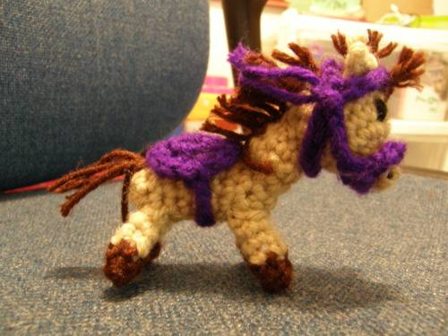miniature crocheted horse