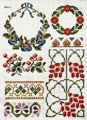 Priscilla Color Cross Stitch Plate3