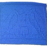 blue dog washcloth