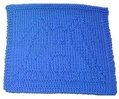 blue dog washcloth