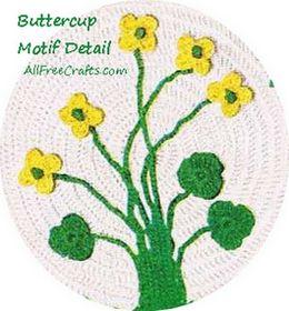 crochet buttercup motif