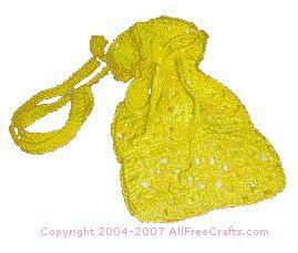 crocheted granny square bag