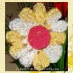 crocheted daisy free pattern