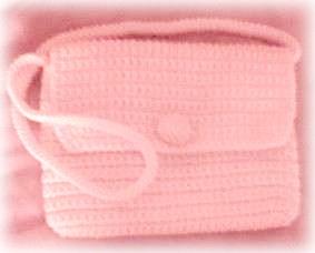 free crochet flap purse pattern