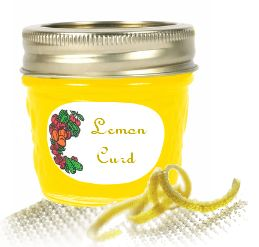 lemon curd in a canning jar