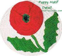 crochet poppy motif