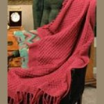 raspberry knitted afghan