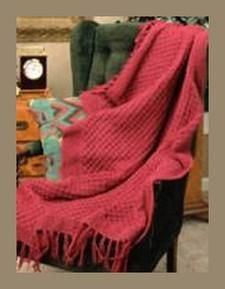 raspberry knitted afghan