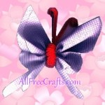 scrap ribbon butterflies