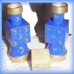alphabet block candle holders