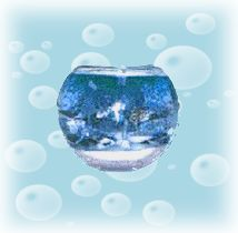 seascape bubble ball candle