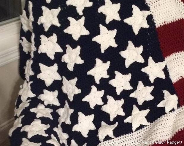 American Flag Crochet Pattern