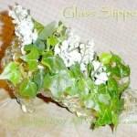 floral glass slipper