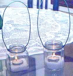 hanging jar lanterns