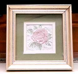 floral impression framed rose