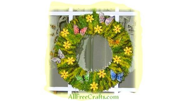 easy homemade spring wreath