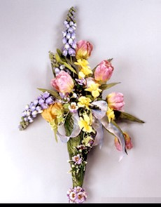 spring bouquet made from silk flowers