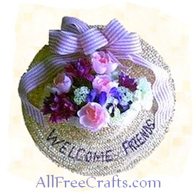 Spring Hat Floral Decoration