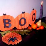 construction paper pumpkins banner