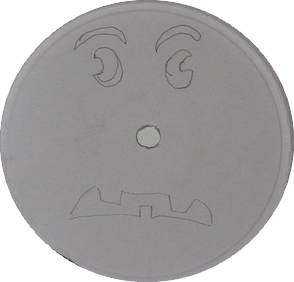 jack o'lantern features drawn inside box lid