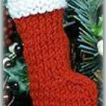 mini Christmas stocking ornament